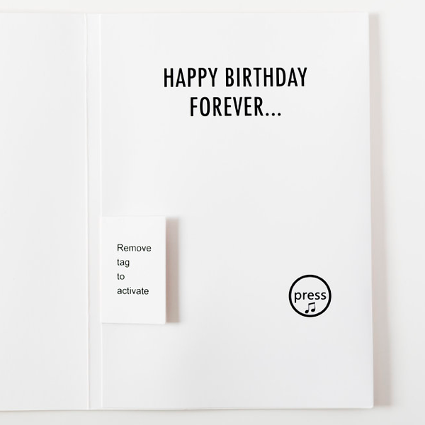 Birthday Greeting Cards That Plays Music Non-stop. The New Funny Card.