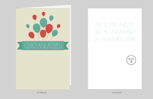 Joker Congratulations Card (non-Glitter)