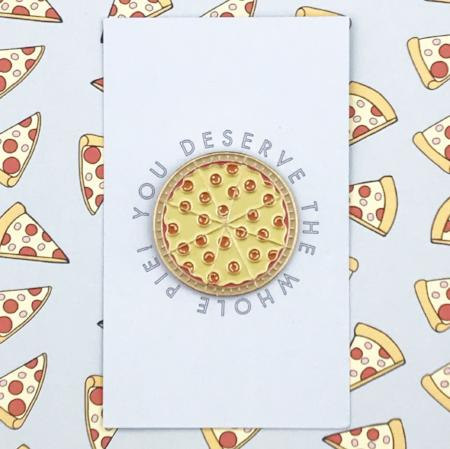 Enamel Pizza Pin