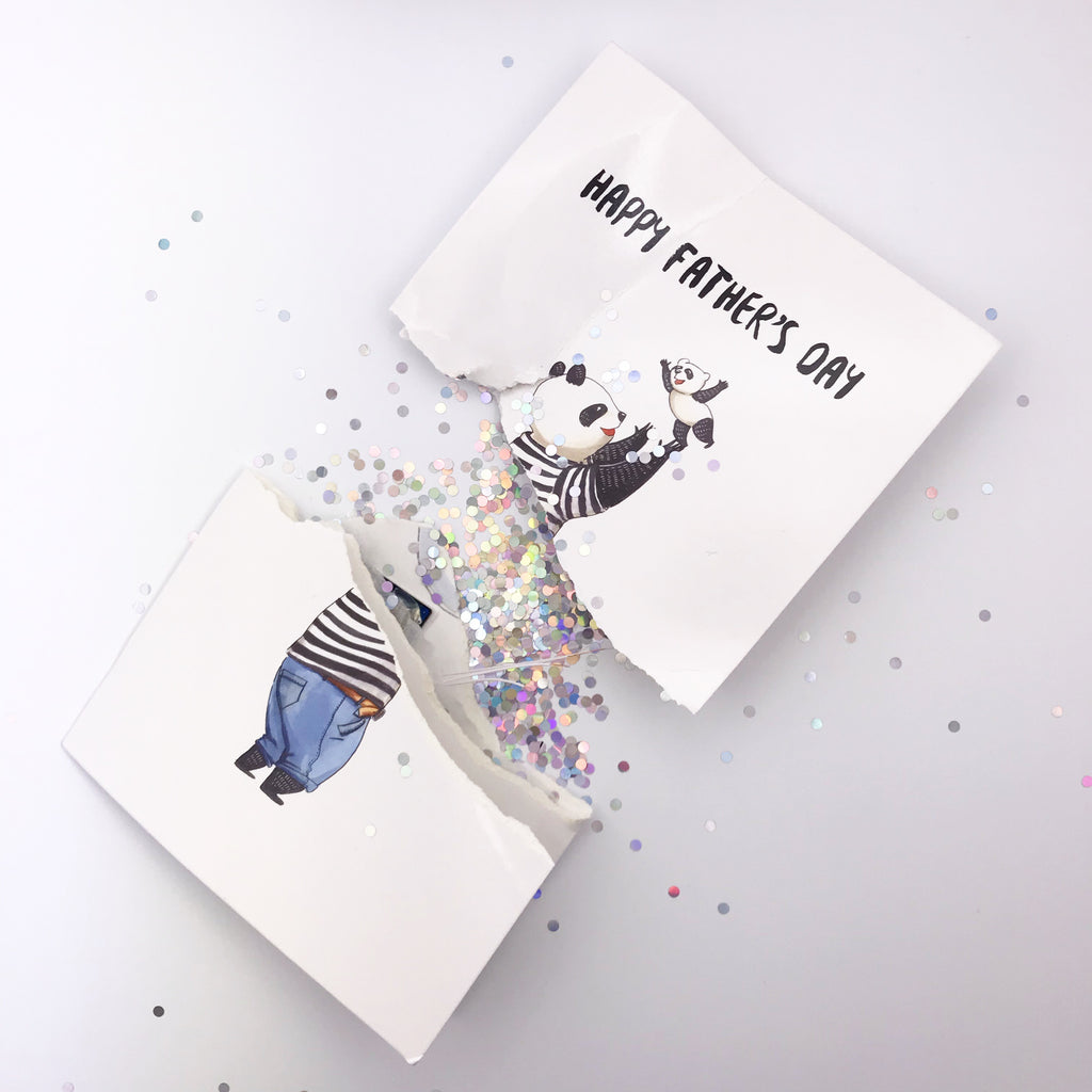 Endless Father's Day Greeting Card has a baby crying nonstop until the battery dies. And we put confetti glitter inside when broken.