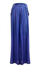 Blue Palazzo Trousers