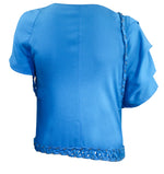buy women tops,  blue wrap top