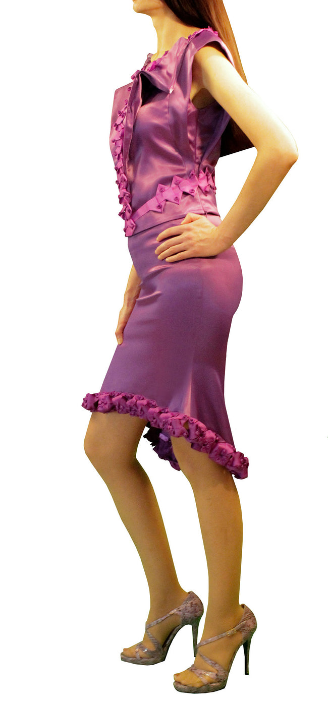 Women Skirts, Lissy Purple Midi Skirts