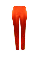 True-Red Skinny Satin Trousers
