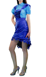 check pinafore dresses, royal blue pinafore dress