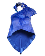 Royal Blue One Shoulder Satin Top