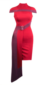 Women Dresses, Ruby Asymmetric Cape Dresses