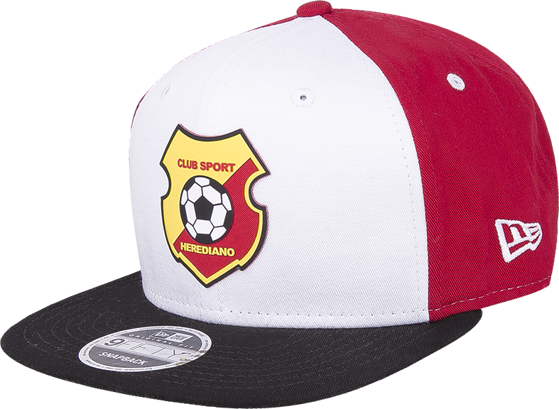 6f61590f88b6 New Era 9Fifty Herediano frente blanco visera negra snapback