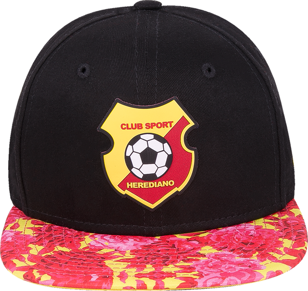 89365498e345 New Era 9Fifty Herediano negra visera plana floral snapback
