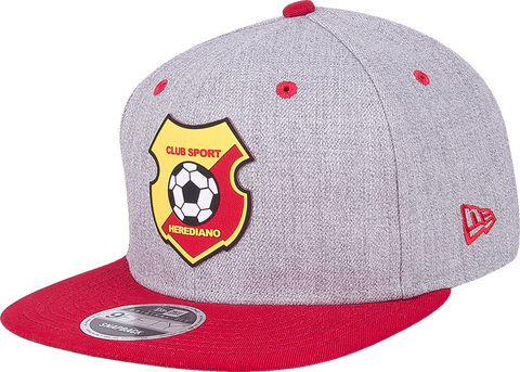 New Era 9Fifty Herediano heather visera plana roja snapback parche al lado derecho Campeones 2017
