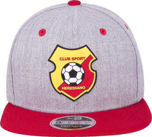 165f1aaf2d1d New Era 9Fifty Herediano heather visera plana roja snapback parche al lado  derecho Campeones 2017