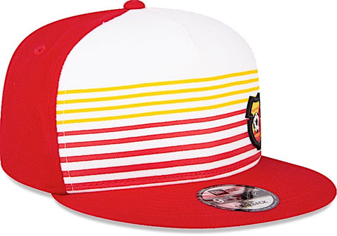 Club Sport Herediano Gorra 9FIFTY Ajustable Roja y de Rayas de New Era