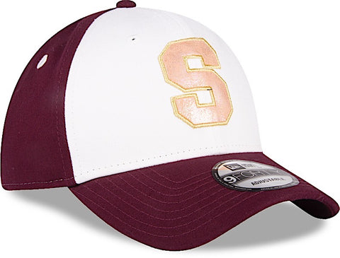 Saprissa 9FORTY Ajustable Blanca, Morado y Dorado de New Era