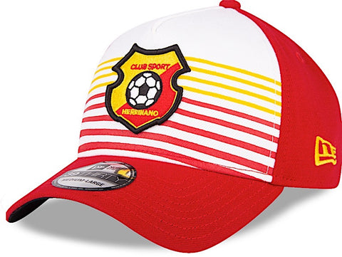 Club Sport Herediano Gorra Roja y Amarillo de Rayas 39THIRTY Cerrada S/M de New Era