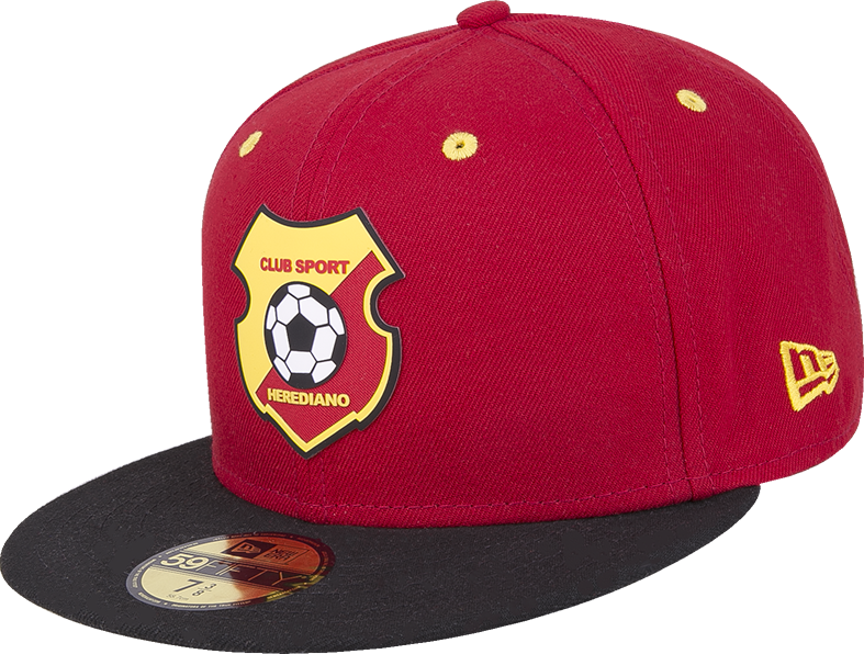 8360ea527347 New Era 59 Fifty Herediano roja con visera negra