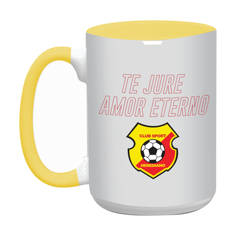 Taza color interno amarillo