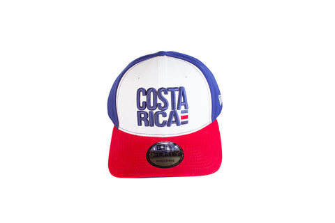 New Era 940 Costa Rica Azul Frontal Blanco Vicera Roja  Snapback