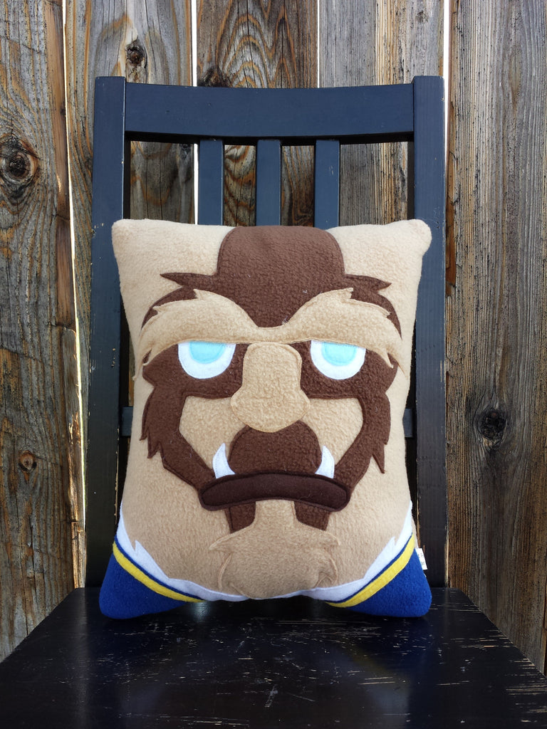 Double sided Prince/Beast pillow and Belle set