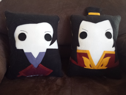 Azula, Avatar the last airbender, Asami Sato, pillow, cushion, plush