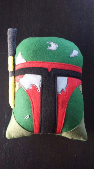 Boba Fett, pillow, cushion, throw pillow, plush