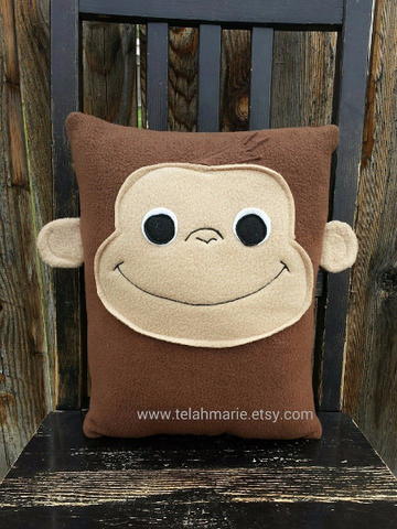 Curious George, pillow, plush, cushion, throw pillow, decor