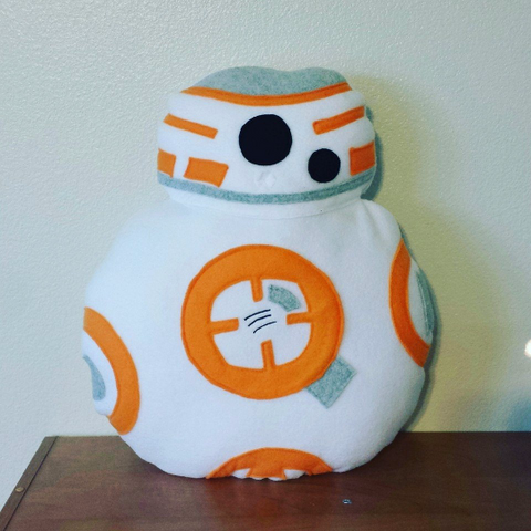 BB-8 pillow, plush, cushion, throw pillow, plushie