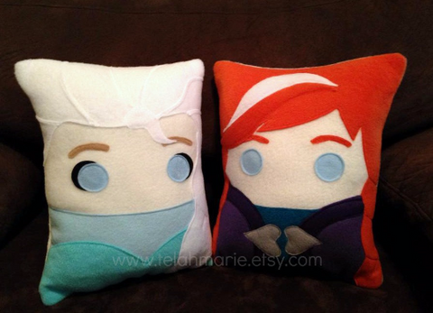 Frozen pillow, Anna, Elsa, Olaf, plush, cushion, throw pillow