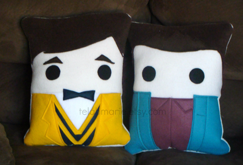 Glee, Kurt, Blaine, pillow, cushion, plush