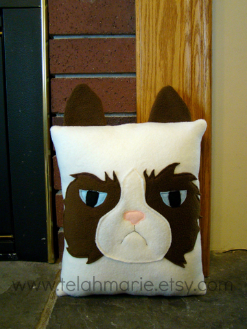 Grumpy Cat pillow, plush, cushion
