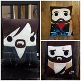 The Walking Dead, Daryl, Rick Grimes, Negan, pillow, plush, cushion