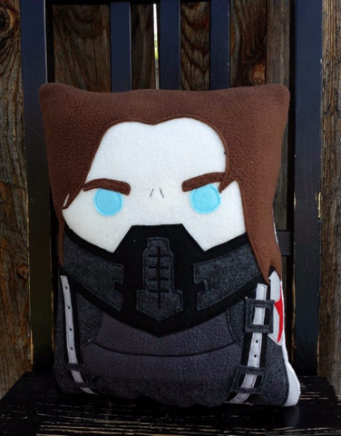 Captain America, Winter Soldier pillow, plush, cushion, bucky barnes