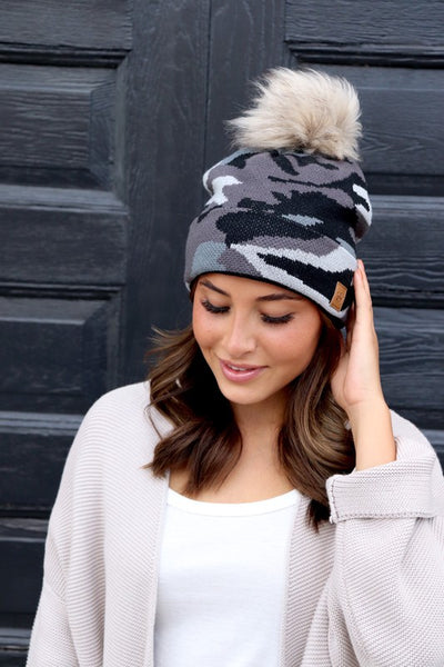 New! Camo and Leopard Beanies - 5 Options!