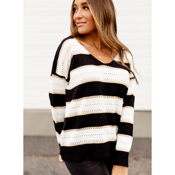 New! Ella Stripe Sweater