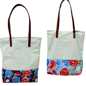 New! PREORDER Freedom Floral Storehouse Flats Canvas Totes - 2 Colors!