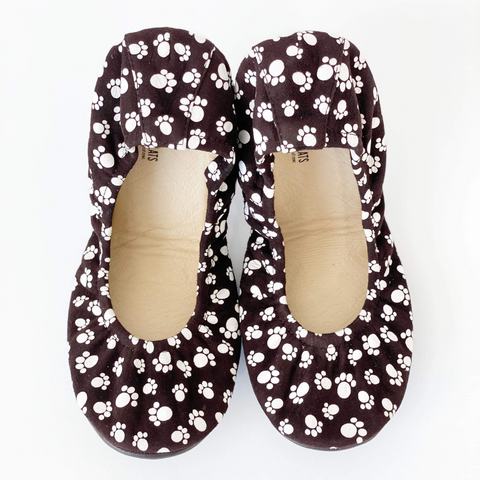 New! PREORDER The Storehouse Flats in Furry Friends Printed Suede