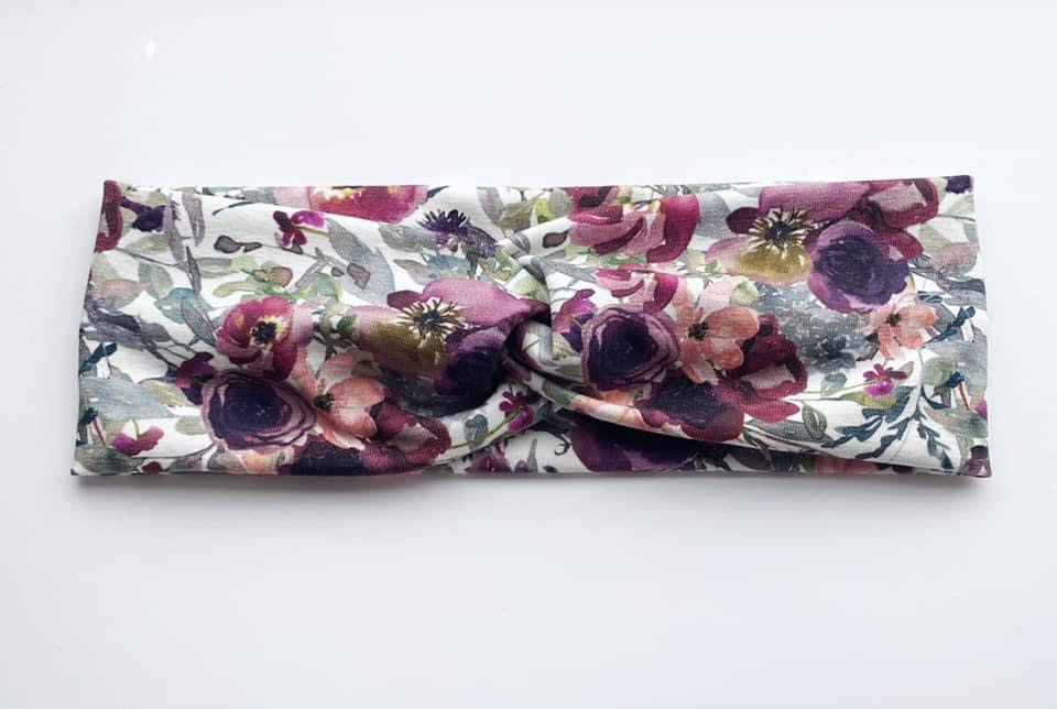 New! White Floral Headband