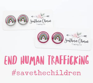 Save the Children Rainbow Earrings - 2 Colors!
