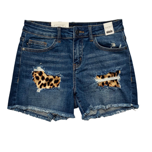 New! Judy Blue Leopard Patch Shorts