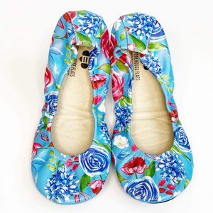 New! PREORDER The Storehouse Flats in Light Blue Freedom Floral