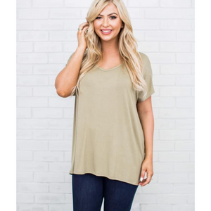 New! Light Olive Boyfriend Tee