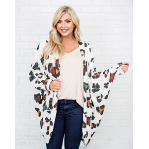 New! Snow Leopard Cabin Fever Cardi