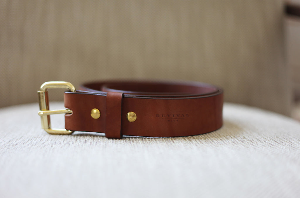 Revival Made Whiskey Leather Belt