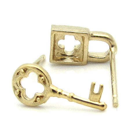 E0026 LOCK AND KEY EARRINGS