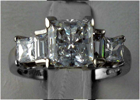 R0097 3CT TW 2CT PC CZ CENTER PC/BAGUETTE SIDES