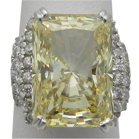 R0147 12ct Radiant Center Ring