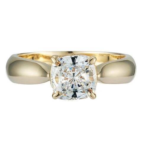R0154 1CT BASKET SET CUSHION SOLITAIRE RING