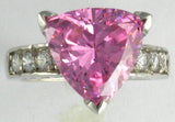 R0190 5CT TRIANGLE CZ CENTER RD SIDE STONES