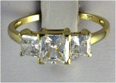 R0208 2CT TW 3 STONE PC CZ RING