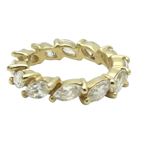 R0270 MARQUIS 1/4CT EACH STONE ETERNITY BAND