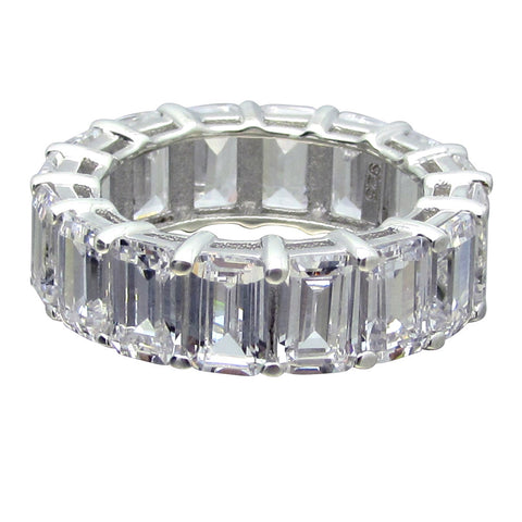 R0286ST 9CT TW 6x4 STEP CUT ETERNITY BAND